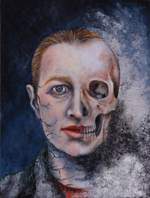 Susan Erony, Self-Portrait, (2000). Oil on canvas, 24 x 18 inches. Collection Cape Ann Museum, Photo credit: Cape Ann Museu